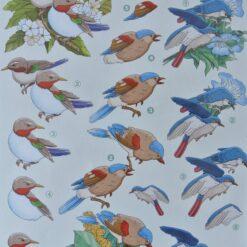 3D knipvel, vogels, 2451