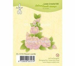 leane creatief flower combi stempel