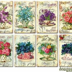 Decorer scrapbook paper, bouquets