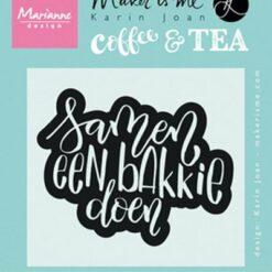 Marianne design, coffee and tea, samen een bakkie doen