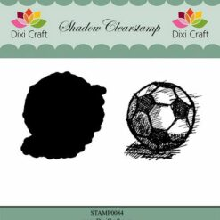 Dixi craft, clearstamp, voetbal