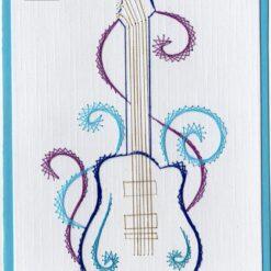Laura's design borduurpatroon gitaar (224)