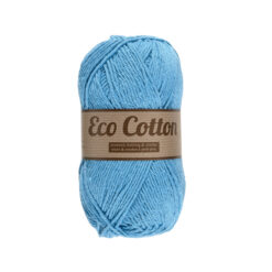 Lammy yarns Eco Cotton blauw 040