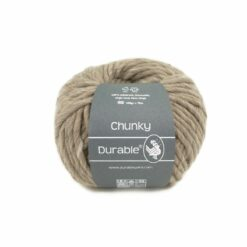 chunky durable garen taupe