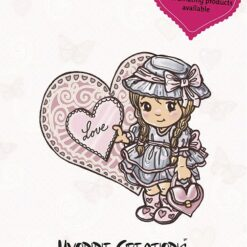 Yvonne Creations, stempel, Love Collection - Girl clearstamp