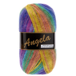 Lammy yarns Angela pauw kleuren (401) - mohair multi color