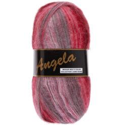 Lammy yarns Angela rood (405) - mohair multi color